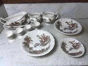 Assorted Vintage The Old Mill by Johnson Brothers Dinnerware Pieces