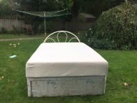 Double divan bed with drawer, headboard and Memory Foam Mattress