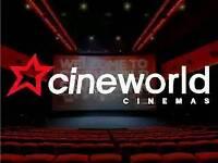 Cineworld cinema tickets x 6