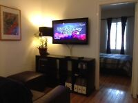 Fully furnished, equipped apartment - close to downtown Montreal