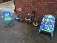 Kids stuff for sale - Bike, Scooter, Chairs