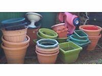 Assorted large plant pots, JOB LOT.