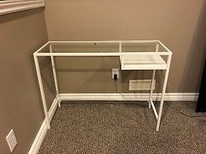 Glass Desk & Shelf Unit