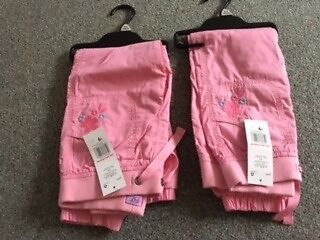 Girls pink trousers age 5 - 6 years brand new with tags