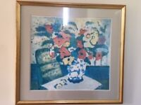 Beautiful colourful print in gold frame bought from John Lewis.