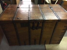 Indian Wooden Trunk
