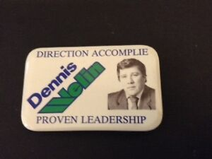 1991 pin issued by former Timmins mayor Dennis Welin