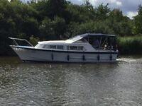 Alpha 31 river cruiser. 1.8 diesel. Moored in Horning, Norfolk