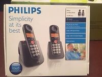 Philips cordless phone XL340 pair in original box.