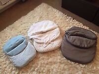 Selection of baby car seat liners Excellent condition From smoke and pet free home