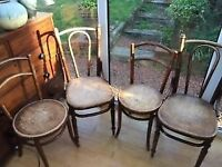 Antique Viennese Fischel Bentwood Cafe chairs