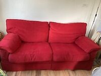 2 large 3 seater sofas for sale with full set of extra covers