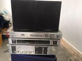 Pioneer SA-740, Pioneer TX-940,Toshiba Aurex AD-2T ADRES, Wharfdale Speakers