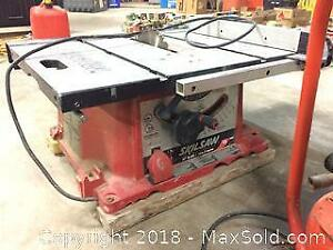 """Skilsaw Table saw (10"""") with Pini Compressor - both working fine"""
