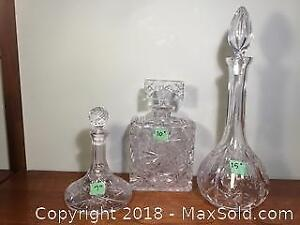 Lead Crystal Decanters