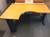 1600 radial corner office desk delivered to Belfast