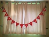 Decoration garlands sweet dreams,handmade 50p a flag free postage, 7.00 each garland.
