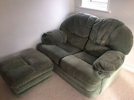 Sofa two seater and foot stool