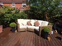 Wicker Garden sofa with cushions