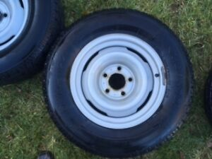 WINTER TIRES ON RIMS 215/70R15 Kitchener / Waterloo Kitchener Area image 2
