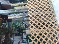 Trellis and Wood scraps from deck project