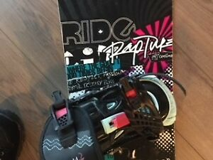 Women's Ride snowboard, binding and boots + bag