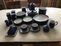 Denby Imperial Blue Dinner Set for sale