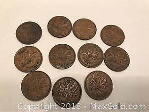 Canada Pennies 1940s