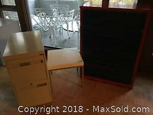 Dresser Table And Filing Cabinet C