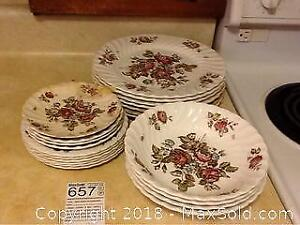 Johnson Bros. Hand Engraved Dishes A