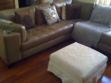 L shaped European leather lounge in Classic Contemporary style Perth Region Preview