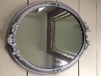 Antique Oval Mirror - Silver