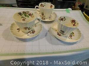 Spode Wicked Lane Cups And Saucers 6 Pieces