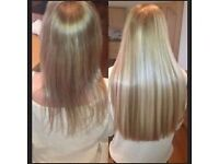 QUALITY AND PROFESSIONAL HAIR EXTENSION SERVICE .