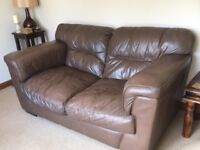 Two brown leather sofas for sale - excellent condition!