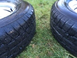 WINTER TIRES ON RIMS 215/70R15 Kitchener / Waterloo Kitchener Area image 1