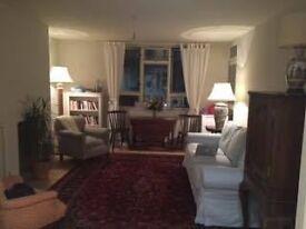 Sunny double room near park & river