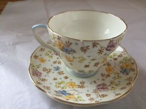 EB Foley English Fine Bone China Chintz-Tea Cup/Saucer