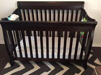 chocolate brown crib + change table and more..