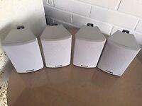 Set of four speakers