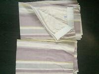 "Laura Ashley Eaton Stripe Curtains, fully lined , pencil pleat heading, 66 x54"" per curtain"