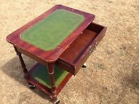 Attractive small table with drawer and wheels, Southbourne