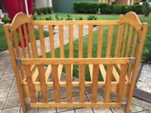 Baby Cot - Pine Timber Fletcher Newcastle Area Preview