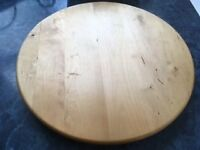 Lazy Susan, 15 inch, Solid Birch Wood, Rotating Turntable Serving Plate