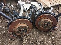 mercedes c class w204 rear wheel hubs callipers wishbones etc or complete call parts