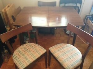 Dining Set - Table with insert and 6 Chairs.