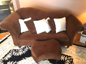 Chaise Love seat and ottoman