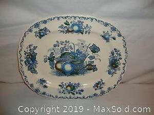 Antique Masons - England platter in Fruit basket pattern