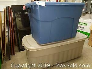 Rubbermaid Large Plastic Storage Bins