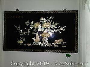 Asian Lacquered Wall Hanging B